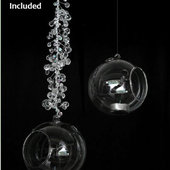 DecoStar™ Set of 6 Hanging Glass Candle Globe