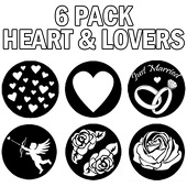 "Lovers 6 Pack - 1"" Gobo for Eddy Light Gobo Projector"
