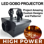 High Power! LED Gobo Projector Light w/ Rotation Feature - 30 Watts!