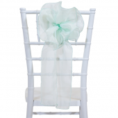 "DecoStar™ 9"" Sheer Flower Chair Accent - Hint of Mint"