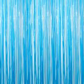 Light Blue - Plastic Wet Look Fringe Curtain - Many Size Options