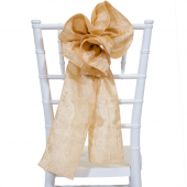 "DecoStar™ 9"" Crushed Taffeta Flower Chair Accent - Light Gold"