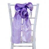 "DecoStar™ 9"" Satin Flower Chair Accent - Lilac"