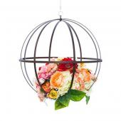 DecoStar™ Wrought Iron Folding Sphere w/ Antiqued Finish - 18""