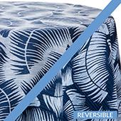 Navy - Havana Tablecloths - DOUBLE-SIDED - MANY SIZE OPTIONS