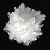 "DecoStar™ IMPROVED Premium Plush 12"" Feather Ball - White"