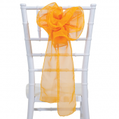 "DecoStar™ 9"" Sheer Flower Chair Accent - Orange"