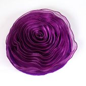 DecoStar™ Pin-able Fabric Flower - Eggplant - Large