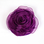 DecoStar™ Pin-able Fabric Flower - Eggplant - Medium