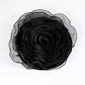 DecoStar™ Pin-able Fabric Flower - Black - Large