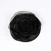 DecoStar™ Pin-able Fabric Flower - Black - Medium