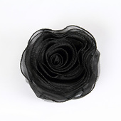 DecoStar™ Pin-able Fabric Flower - Black - Small