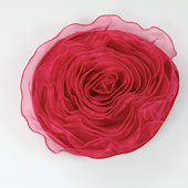 DecoStar™ Pin-able Fabric Flower - Raspberry - Large