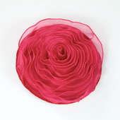 DecoStar™ Pin-able Fabric Flower - Raspberry - Small