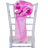 "DecoStar™ 9"" Satin Flower Chair Accent - Pink"