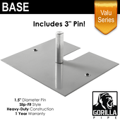 "Valu Series - 16in x 14in Standard Duty 1.5"" Base (Up to 8ft)"