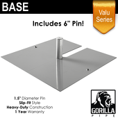 "Valu Series - 24in x 24in Standard Duty 1.5"" Base (Up to 18ft)"
