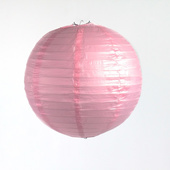 Round Paper Lantern In Pink - Assorted Sizes