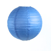 Round Paper Lantern In Blue - Assorted Sizes