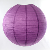 Round Paper Lantern In Wisteria- Assorted Sizes