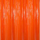 Orange - Plastic Wet Look Fringe Curtain - Many Size Options