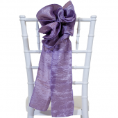 "DecoStar™ 9"" Crushed Taffeta Flower Chair Accent - Purple"