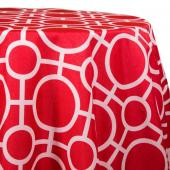 Red - Roundabouts Designer Tablecloths - Many Size Options