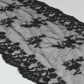 "Lace Table Runner - 14"" x 108"" - Black"