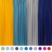 "*FR* 60ft Tall Satin Drape Panel by Eastern Mills (59"" Wide) w/ 4"" Sewn Rod Pocket in Choice of Colors"