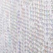 DecoStar™ Satin Top Rod Pocket 6ft. Jewel Crystal Iridescent Diamond Cut Curtain
