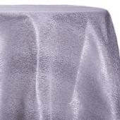 Silver - Designer Mardi Gras Linen Broad Tablecloth w/ Brushed Metallic Finish - Many Size Options