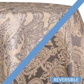Silver - Martinique Designer Tablecloths - Many Size Options
