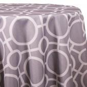 Silver - Roundabouts Designer Tablecloths - Many Size Options