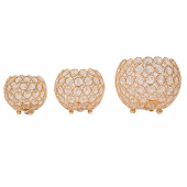 DecoStar™ Gold Crystal Candle Globe - 3 Piece Set! (Small, Medium, Large)