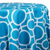 Turquoise - Roundabouts Designer Tablecloths - Many Size Options