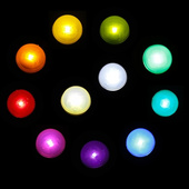 Twinkle Pearls - Small Decorative Glowing Balls - 12 Pack