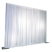 Deluxe 3 Piece 7-Panel Pipe and Drape Kit / Backdrop - 8-20 Feet Tall (Adjustable)
