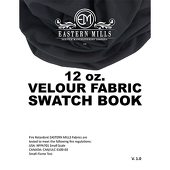 Velour Fabric Swatch Book by Eastern Mills - All Velour Products