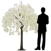 5.5FT Drooping Hydrangea Bloom Tree - Floor or Centerpiece - White