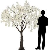 6.5FT Wisteria Tree - Floor or Grand Centerpiece - White