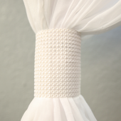 DecoStar™ White Rhinestone Mesh Velcro Band / Curtain Tie