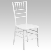 EnvyChair™ Elegant Wood Chiavari Chair - White